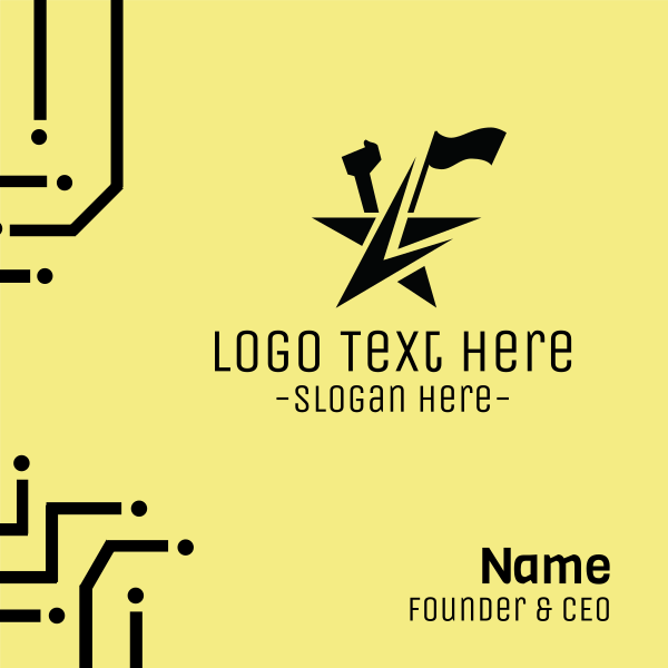Leader Star Flag Business Card