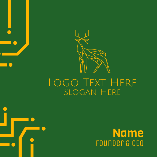 Minimal Deer Business Card