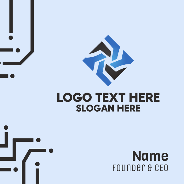 Star Tech Diamond Business Card