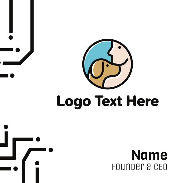 Dog & Man Business Card