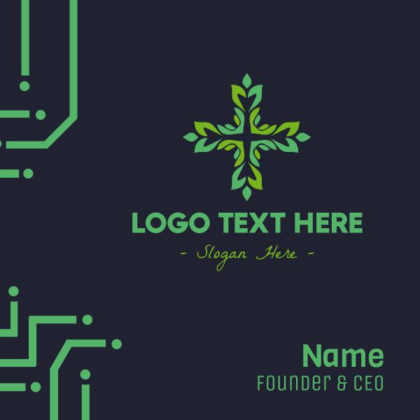 Leafy Cross Business Card