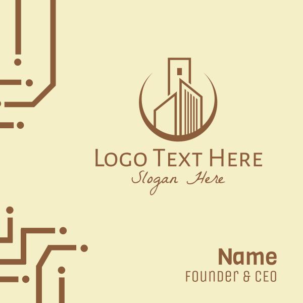 Elegant Corporate Building Business Card