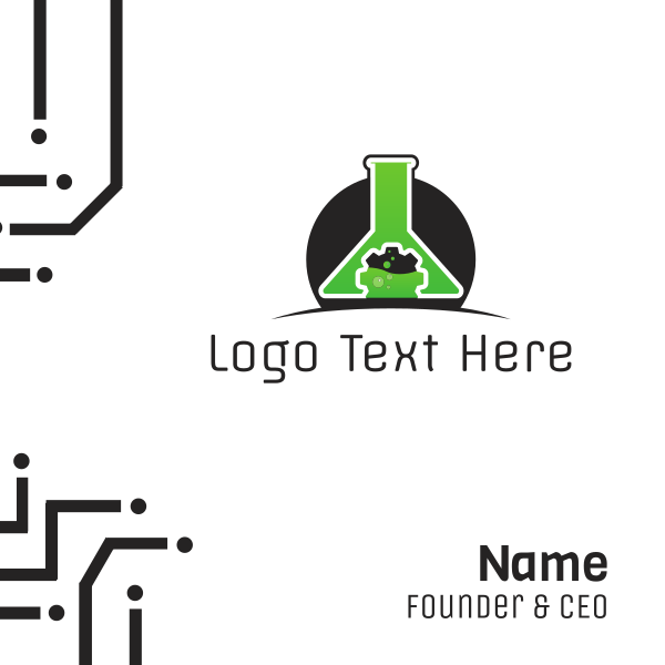 Technology Lab Experiment Business Card