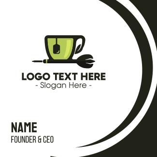 Tea Cup Dart Business Card