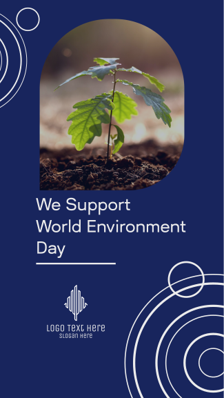 We Support World Environment Day Facebook story