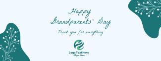 Floral Grandparents Greeting Facebook cover