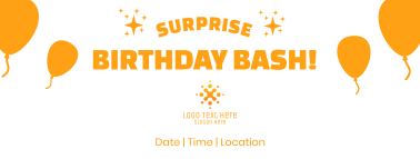Surprise Birthday Bash Facebook cover