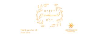 Elegant Classic Grandparents Day Facebook cover