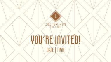 Vintage Invitation Facebook Event Cover