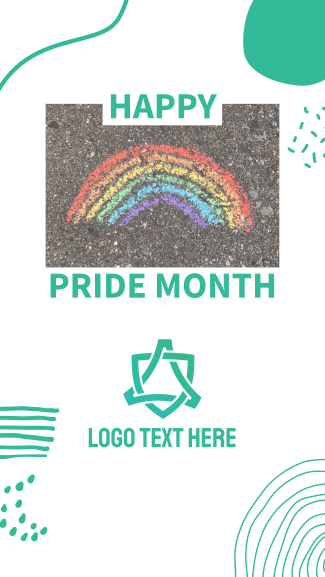 Happy Pride Month Facebook story