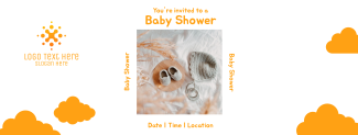 Baby Shower Invitation Facebook cover