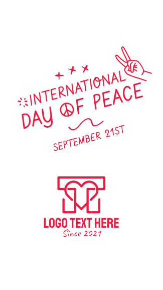 International Day of Peace Scribble Facebook story