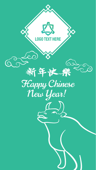 Chinese New Year Ox Facebook story