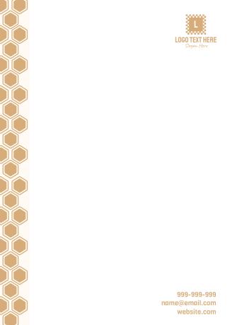 Honeycomb Pattern Letterhead