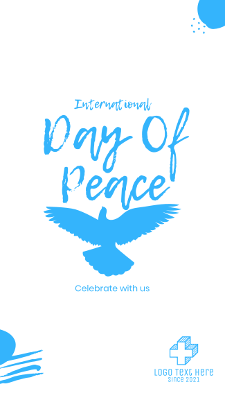 Flying Peace Dove Facebook story