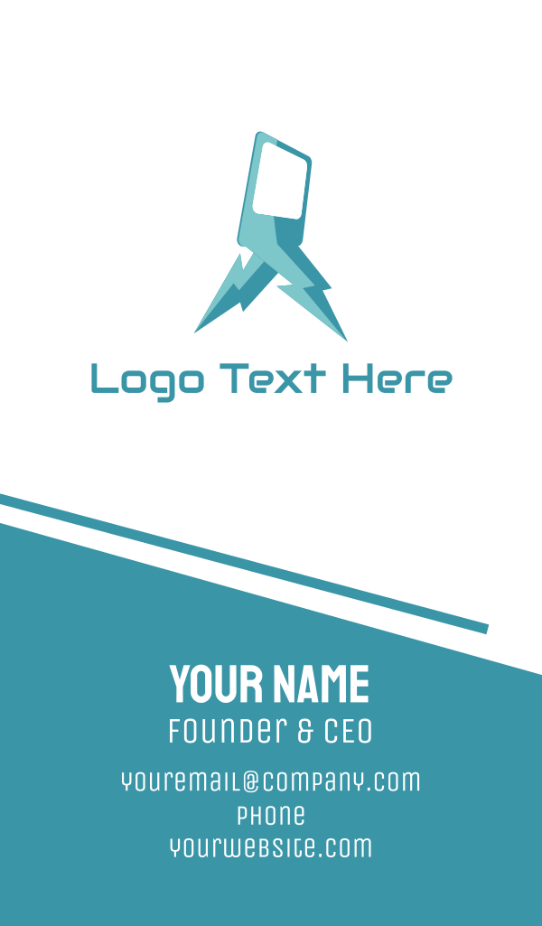 Blue Lightning Phone Business Card