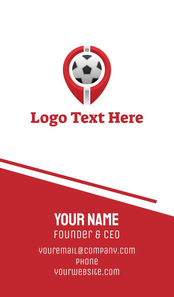 Soccer Football Circle Business Card