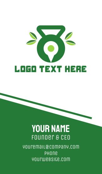 Green Fitness App Business Card