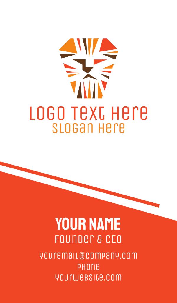 Orange Lion Mosaic Business Card