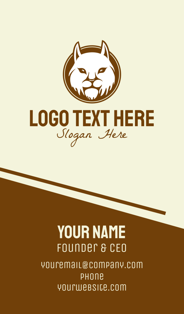 Mountain Cat Mascot Business Card