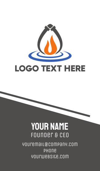 Fire & Water Business Card