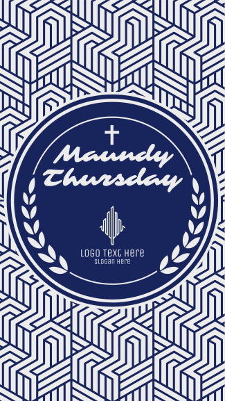 Maundy Thursday Holy Thursday Facebook story