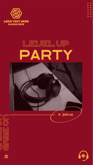 Level Up Party Facebook story