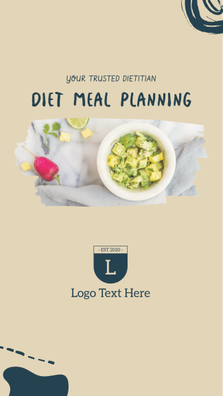 Diet Meal Planning Facebook story