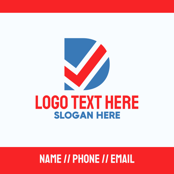 Voter Letter D Business Card