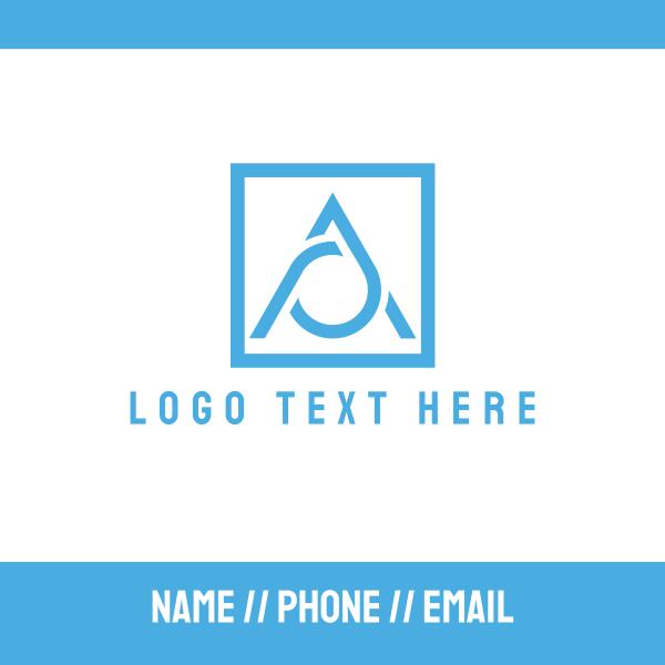 Blue Letter A Business Card