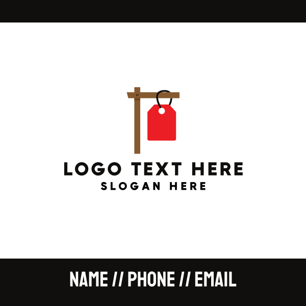 Sign Hangtag Business Card