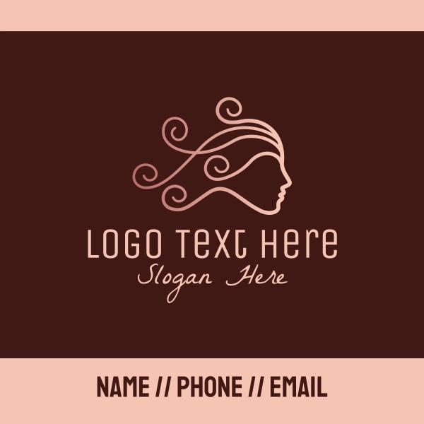 Elegant Beauty Hairdresser Business Card