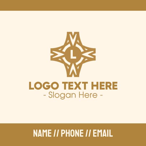 Elegant Pattern Lettermark Business Card
