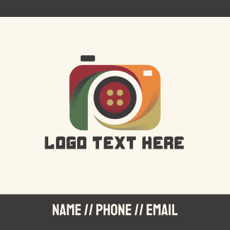 Abstract Camera Business Card