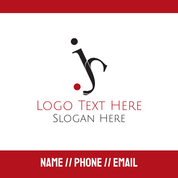 Golf Letters Business Card