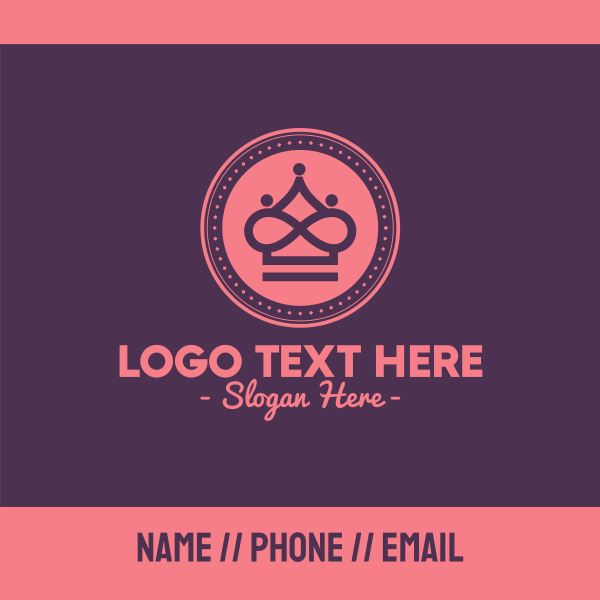 Royal Queen Crown Beauty Business Card