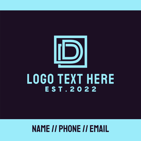 Abstract Letter D Business Card