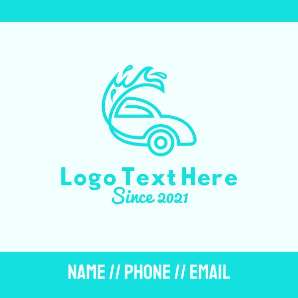 Blue Car Wash Business Card