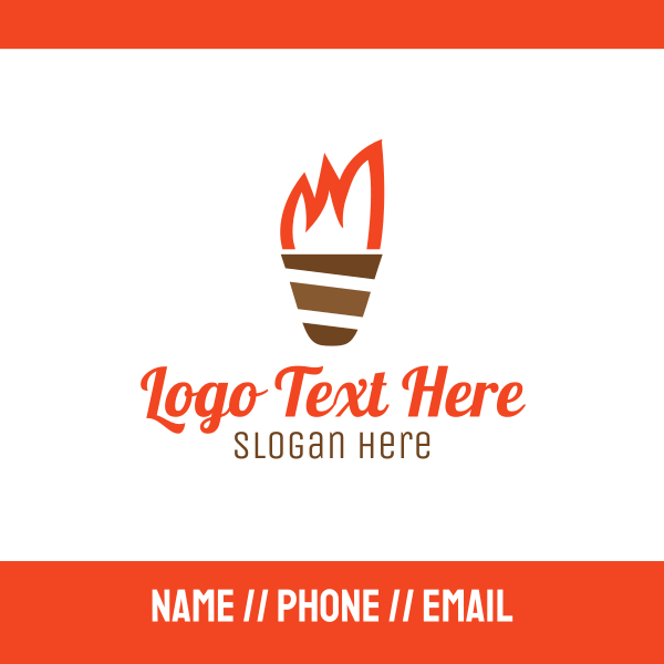 Ice Cream Torch Business Card