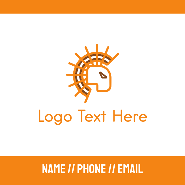 Abstract Sun Lion Business Card
