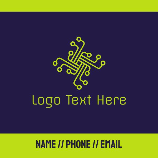 Gren Circuit Cross Business Card