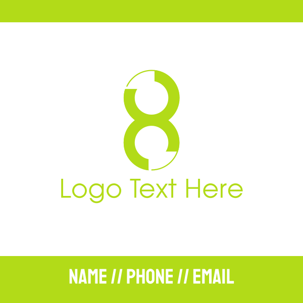 Green Number 8 Business Card