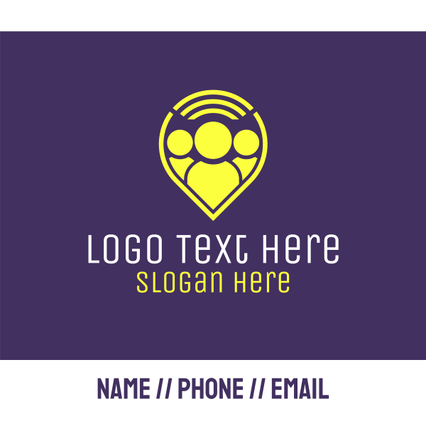 People Location Pin Business Card