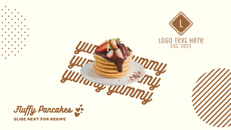 Yummy Fluffy Pancakes Facebook Event Cover