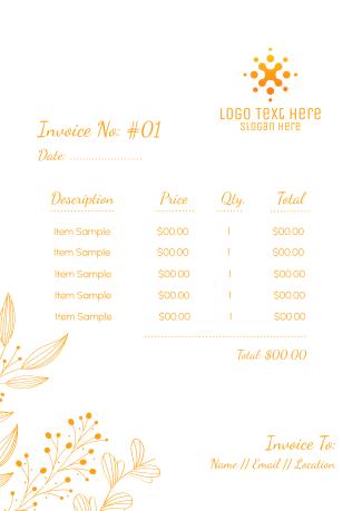 Leaves Ornament Invoice
