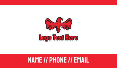 Blood Eagle  Business Card