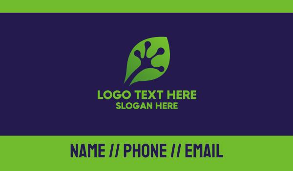 swamp - Frog Hand Leaf Business card horizontal design