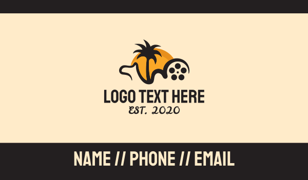 production - Camel Film Reel Business card horizontal design