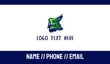 Graffiti Letter Z Business Card