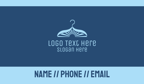 dry cleaning - Laundry Hanger Business card horizontal design
